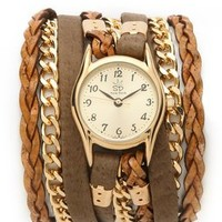 Sara Designs Leather & Suede Texture Wrap Watch | SHOPBOP