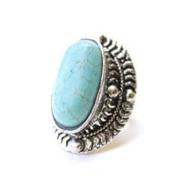 Mayan Waters Turquoise Ring