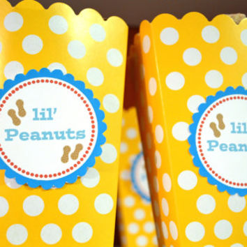 Circus Birthday Party Labels Package Photo Booth Sign