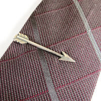 Arrow Tie Bar- Sterling Silver & Antiqued Brass Finishes- Gifts For Men- Groomsmen Gifts