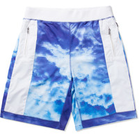 AURA GOLD Blue Digital Cloud Shorts | HYPEBEAST Store. Shop Online for Men's Fashion, Streetwear, Sneakers, Accessories