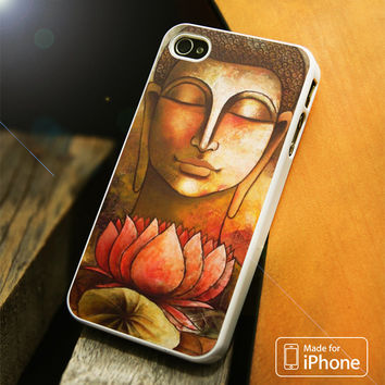 Buddha Painting Flower iPhone 4(S),5(S),5C,SE,6(S),6(S) Plus Case