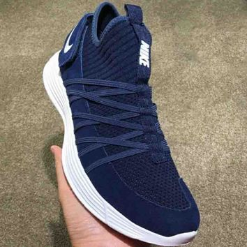 NIKE LUNARCLIDE 2018 Trendy Knit Wild Casual Shoes F-CSXY blue