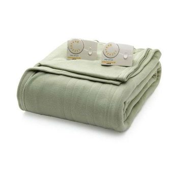 Full Size Electric Heated Blanket in Sage Green with Digital Control