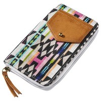 Mossimo Supply Co. Zip Around Wallet with Ethnic Print - Brown