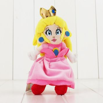 Super Mario party nes switch 22CM  Pink Peach Princess Plush toys cute doll for children   soft stuffed doll AT_80_8