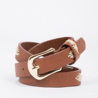 Leather Tribal Stitched Belt