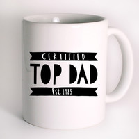 father's day top dad Mug Design