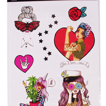Love and Madness x Valfre Babes Temporary Tattoos