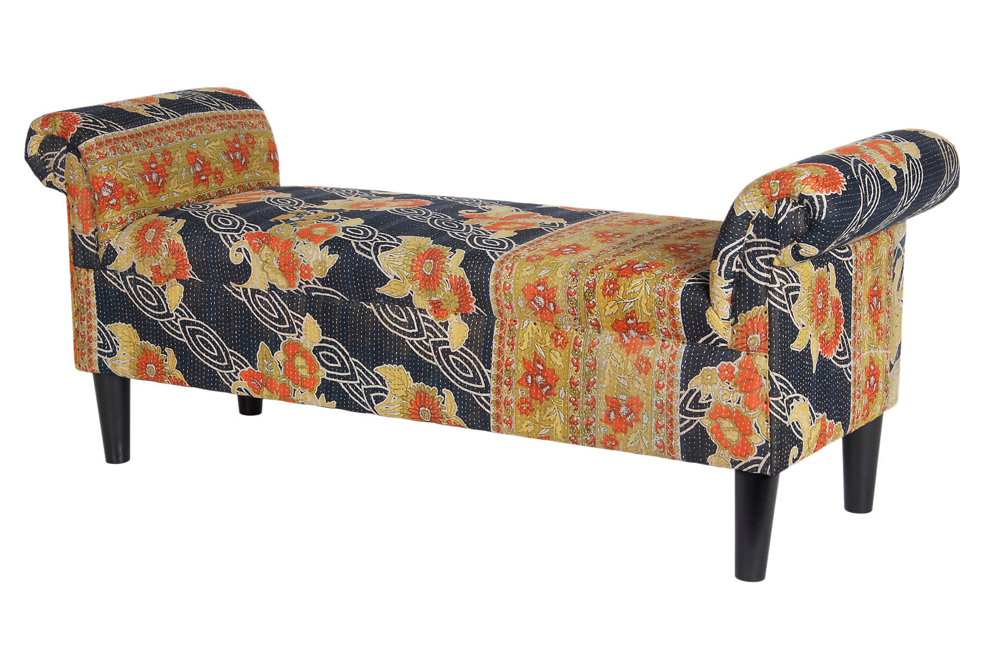 Kantha Roll Arm Bench Gold Black From One Kings Lane Cara 39 S