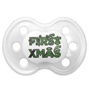 """""""Baby's FIRST Christmas"""" CUSTOMIZABLE Pacifier"""