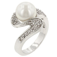 White Pearl Fashion Ring-CasaMom's Everything