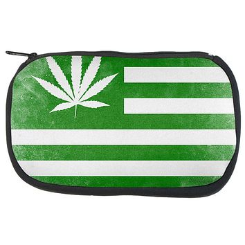 American High Pot Leaf Flag Makeup Bag