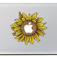Sunflower Macbook Decal Macbook Stickers Mac Pro 13 Decal Laptop decal Macbook Pro/Air/ipad sticker Vinyl sticker Apple Mac Decal ---KC220