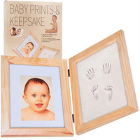 Baby Prints and Keepsake Desk Frame Impression and Photo Kit