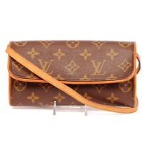 Louis Vuitton Pochette Twin Monogram Canvas Cross Body Bag 5638 (Authentic Pre-owned)