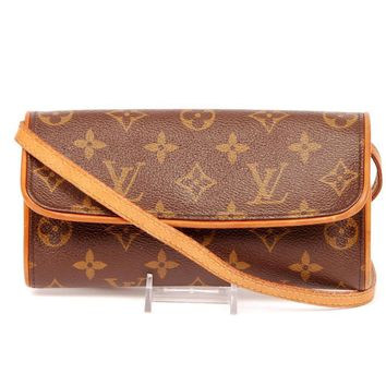Louis Vuitton Pochette Twin Monogram Canvas Cross Body Bag 5638