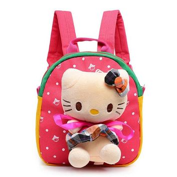 Kitten Plush Cartoon Toy Ultralight Backpack Children School Bags Kid Bag Lovely Backpacks Children's Gift for Girls Mochila Y58