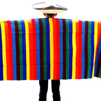 """Authentic Mexican Blanket 34X77 Inches"""" Mexico decor BLANKET-9"""