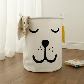 Free shipping Laundry Basket Toy Storage Bag Large Dirty Clothes Basket Smile Sleep Bear Organizer Bin ABCD Waterproof Toy Bag