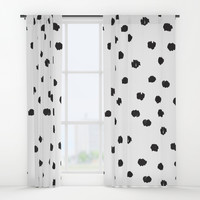 Scribble Polka Dots Window Curtains by allisone