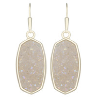 Kendra Scott Danay Drop Earrings - Iridescent Crystallized Drusy
