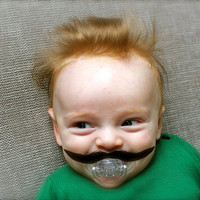 Mustache Pacifier photo prop for an awesome baby