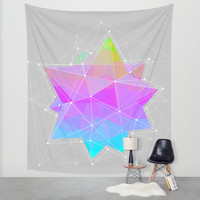 The Dots Will Somehow Connect (Geometric Star) Wall Tapestry by Soaring Anchor Designs