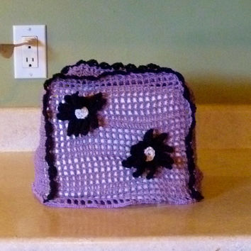 Toaster Cover - Vintage Style Crochet Daisy Two Slice