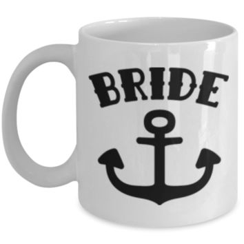 Bride Mug - White Porcelain Coffee Cup,Premium 11 oz White coffee cup