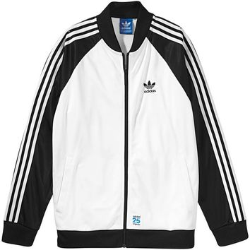white and black adidas jacket