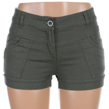 Salt Tree Women's Color Swatch Cuffed Stitched Shorts US Seller