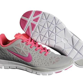 gray rose pink nike free tr fit 3 women's training shoes