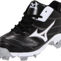 Mizuno Women's 9-Spike Advanced Finch 5 Softball Cleat,Black/White,9.5 M US
