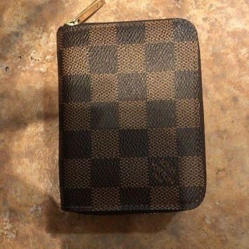 DCCK authentic louis vuitton Damier wallet credit card organizer