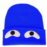 B2 – ROYAL BLUE – GOOGLEY EYES BEANIE