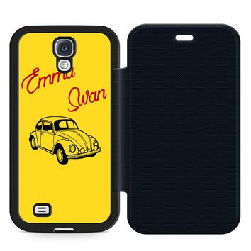 Emma Swan Leather Wallet Flip Case Samsung Galaxy S4