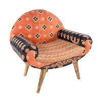 Jaipur Arm Chair in Vintage Kantha