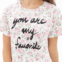 Rose Print Graphic Tee