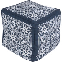 Harmony Outdoor Safe Pouf ~ Navy Blue