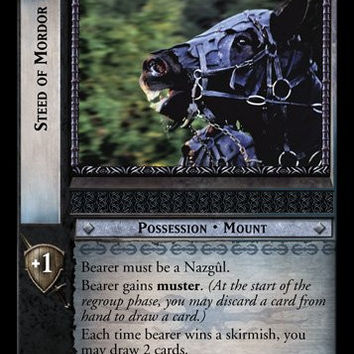Lord of the Rings TCG Card Game Black Rider - Steed of Mordor - 12C172