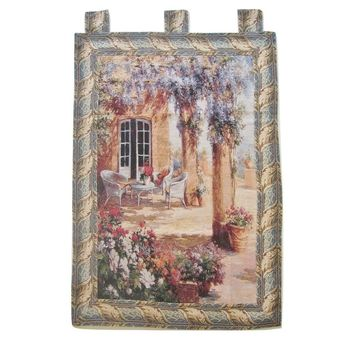 "Quiet Evening Elegant Woven Fabric Baroque Tapestry Wall Hanging - 36"" x 50"""