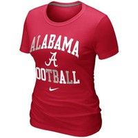 Nike Alabama Crimson Tide Ladies Football Gridiron T-Shirt - Crimson