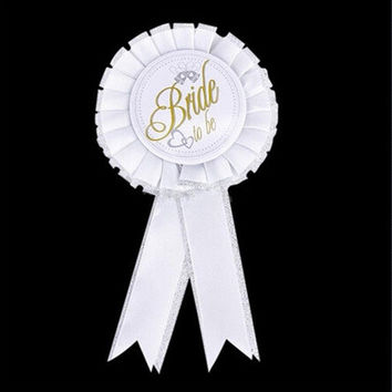 Bride To Be Badge Brooch Rosette Hen Party Night Bachelorette Party Accessory