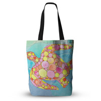 """Catherine Holcombe """"Circle Turtle"""" Yellow Orange Tote Bag, 13"""" x 13"""" - Outlet Item"""