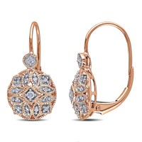 Diamond Fashion Rose Earrings 1/8ctw