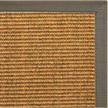 Sustainable Lifestyles Cognac Sisal Rug with Quarry Canvas Border