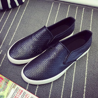 Solid Low Top Slip on Flat Sneakers