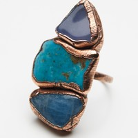 Free People Buried Treasure Triple Stone Ring
