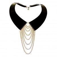 COLLARED NECKLACE GOLD by ZELIA HORSLEY JEWELLERY